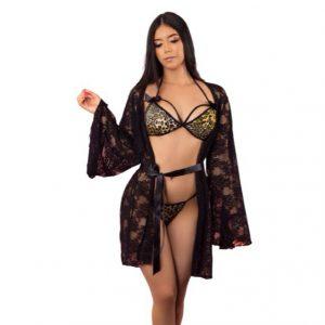 Conjunto sensual con Kimono
