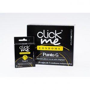 Preservativos Clickme Punto G x3